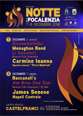 """Notte re la Focalenzia"" a Castelfranci 7 e 8 dicembre '18"