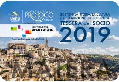 Tessera del Socio Pro Loco 2019