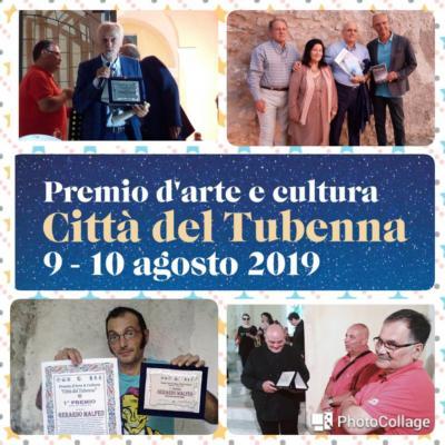"""I Premiati al """"Città del Tubenna"""": Angela Furcas, Maurizio Pintore, Franco Nicolino, Gerardo Malfeo. Benemerenze a Luciano D'Elia e Giuseppe Barra."""
