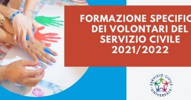 Servizio Civile Universale: Formazione Specifica beni culturali – 14 e 15 ottobre 2021 Turni 1 e 2